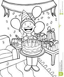 Birthday Celebration Black And Clipart 1