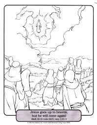 Ascension Coloring Page AZ Pages Of Jesus