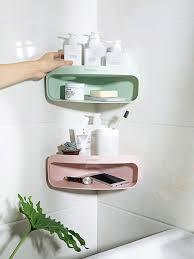 badzubehör textilien badezimmer ecke lagerung dusche