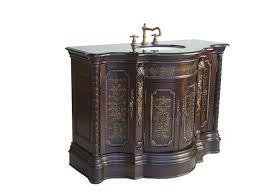 adelina 48 inch vintage bathroom vanity light coffee finish