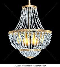 Chandelier With Crystal Pendants