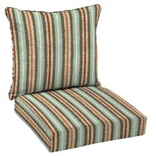 Hampton Bay Patio Furniture Cushion Covers by Hampton Bay Elaine Ikat Stripe Welted 2 Piece Deep Seating Outdoor
