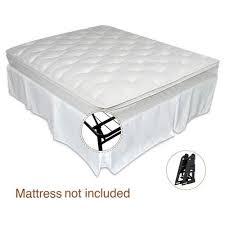 spa sensations smartbase twin full size steel bed frame walmart