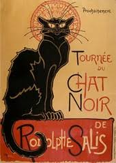 One Of Several Posters Le Chat Noir Cabaret In Paris By Theophile Steinlen 1896