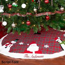 Personalized Plaid Christmas Tree Skirt