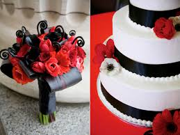Black Fern Curls Calla Lilies Ti Leaves Red Anemones Roses Tulips White Wedding
