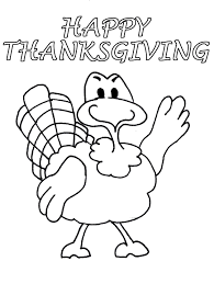 Cute Turkey Thanksgiving Coloring Pages