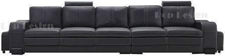 canapé 5 places cuir convertible réversible wendy royal sofa