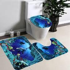 rutschfeste badematte 20 x 31 u förmige matte 20 x 16 toilettensitzbezug 16 x 16 fußmatte fußmatte saugmatten delfin