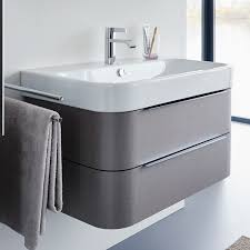 image of duravit happy d2 775mm wall mounted white vanity unit