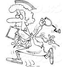 Vector Of A Cartoon Multitasking Nurse