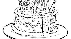 Birthday Cake Line Drawing