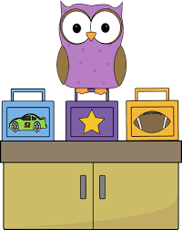 Owl Lunch Box Monitor Vector Image Childrens Lunchbox Clip Art