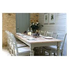 Oak Dinning Room Furniture Extending Dining Table And Six Painted Chairs With Cushions Solid Wood