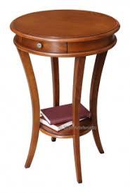 runder stehtisch 1 schublade 1 einlegeboden runder tisch aus holz im klassischen stil made in italy stehtisch für wohnzimmer flur esszimmer