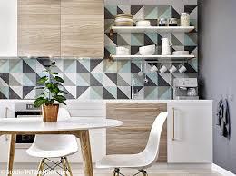 papier peint imitation carrelage cuisine catchy decoration cuisine avec papier peint design int rieur at