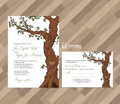 Free PDF Rustic Wedding Invitation And RSVP Template Fairytale Tree KitsPrintable