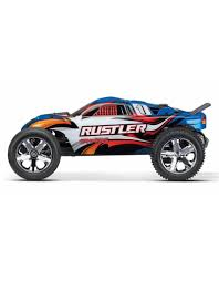 TRA37054-1_BLUE RUSTLER: 1/10 SCALE STADIUM TRUCK WITH TQ 2.4 GHZ ...