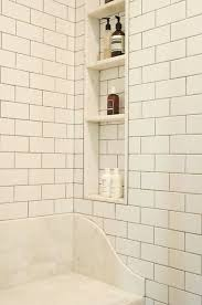 like daltile subway tile with delorean gray grout and nooks