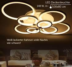 6067 8 100x80x17cm led 148w led deckenleuchte mit fernbedienung lichtfarbe helligkeit einstellbar