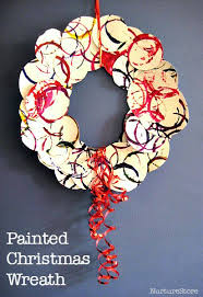 Painted Christmas Wreath Crafts