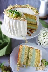 weiße ganache torte mit basilikum und beeren zungenzirkus
