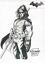 Batman Arkham City Robin Coloring Pages