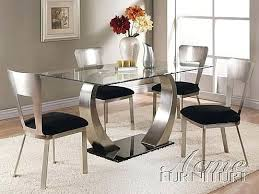 Glass Tables Dining Round Room Table And Chairs Extension