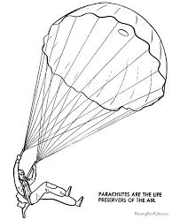 Parachute Coloring Page 026