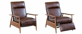 Leather Retro Mid Century Modern Recliner Chair Club Furniture