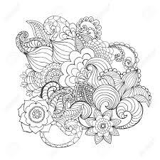 Quatre Ornements Ronds Fleur De Ressort Mandala Réglé Pour Livre