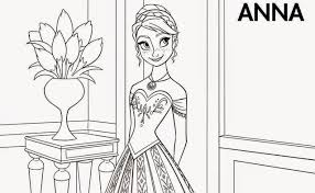 Anna From Frozen Coloring Pages Pictures To Pin On Pinterest
