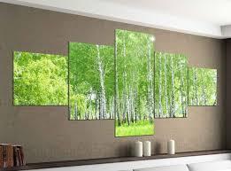 acrylglasbilder 5 teilig 200x100cm birke wald grün frühling landschaft baum druck acrylbild acryl acrylglas bilder bild 14f713