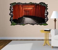 3d wandtattoo tür durchgang eingang rot asiatisch selbstklebend wandbild wandsticker wohnzimmer wand aufkleber 11o1148 wandtattoos und