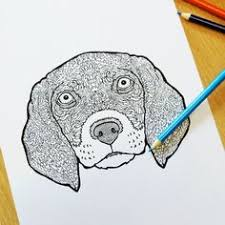 Beagle Illustration From The Detailed Dogs Coloring Book Visit