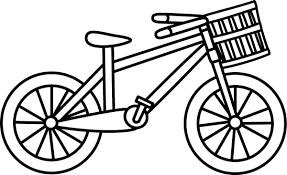Bike Black And White Clipart