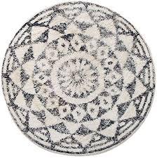 hkliving badezimmerteppich schwarz weiß rund ø80cm