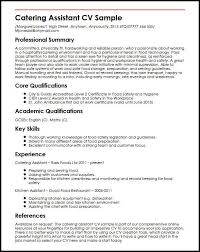 Catering Assistant CV Sample