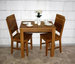 massivholz essgruppe 3teilig asteiche geölt küchentisch 80x60cm 2 stühle
