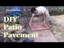 DIY Backyard Patio Pavement