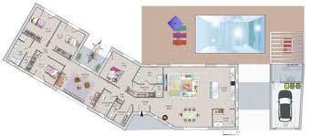 plan maison plain pied 6 chambres ère moderne dé du plan de ère moderne faire