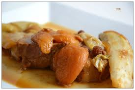 cuisiner noix de veau noix de veau en sucré salé aux abricots et raisins secs ddcuisine