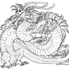 Chinese Dragon Coloring Pages AZ