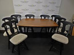 Counter Height Dining Table And 8 Swivel Upholstered