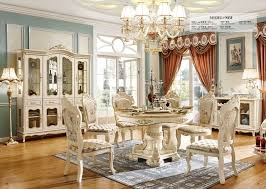 Cheap Price High Quality Royal Wood Design Dining Table Sets White Furniture Set With Chairs In