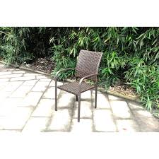 Stackable Outdoor Sling Chairs by Mainstays Wicker Stacking Dining Chair Walmart Com