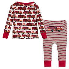 Hatley - 'Fire Trucks' Organic Pyjamas | Childrensalon Outlet