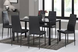 Warmiehomy Dining Table Chairs, Glass Dining Table Set And 6 Faux Leather  Chairs Black (Dining Table With 6 Chairs) Alexia 5 Pcs Contemporary Set 4 Black Chairs And White Modern Table Inspire 5piece Greywhite Kids Table And Chair Set Garden Trading Rive Droite Bistro Chairs Shutter Blue Costway Piece Ding Wood Metal Kitchen Breakfast Fniture Black Rakutencom Black Table Chairs Dorel Living Devyn 3piece Faux Marble Pub Ikea In Camberwell Ldon Gumtree Brooklyn Oak Leather Bro103 Warmiehomy Glass 6 With 2375 Square Inoutdoor 2 Meco Sudden Comfort Deluxe Double Padded Back Card Courtyard Cosco Foldinhalf Folding