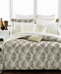 Yves Delorme Bedding by Hugo Boss Bedding Linear Jacquard Queen Duvet Cover Duvet
