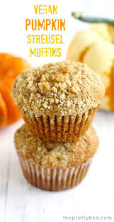 Eggless Pumpkin Muffins by Vegan Pumpkin Muffins With Streusel Topping The Pretty Bee